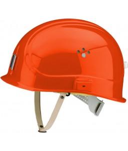 Canal Worker Helmet Kράνος Τάφρων ,Υπόγειων Στοών κοντό ράμφος , με άγγιστρο καλωδίου λάμπας και δερμάτινο υποσιάγωνο Καρμίνης Κόκκινο RAL 3002 VOSS