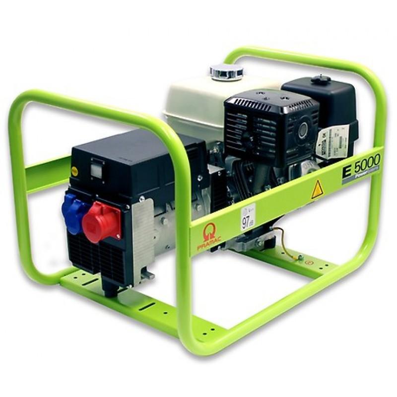 E5000 Ηλεκτρο - Γεννήτρια Βενζίνης 3-Φασική 5,4 kVA με Χειρόμιζα και χειροκίνητο πίνακα ελέγχου Honda GX270 PRAMAC
