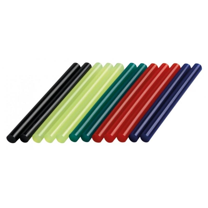 GG05 - 12 τεμ. θερμόκολλα χρωματιστή 11mm DREMEL
