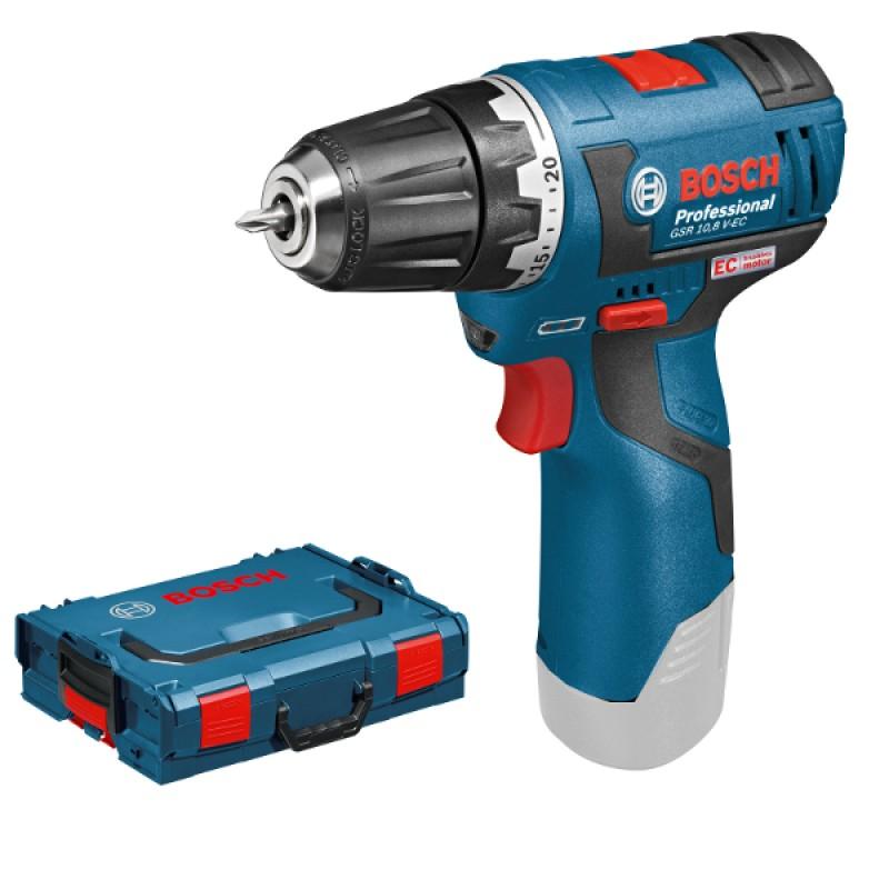 GSR 10,8 V-EC solo (χωρίς μπαταρίες και φορτιστή) L-Boxx ΔΡΑΠ/ΒΙΔΟ Μπαταρίας BOSCH