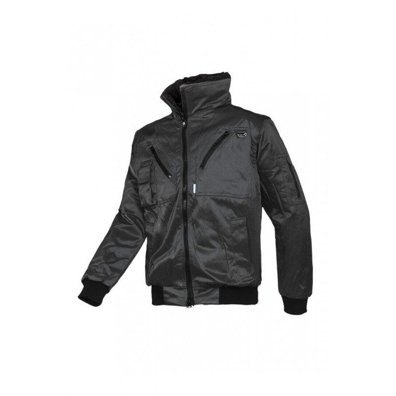 Hawk Χειμερινό μπουφάν με αποσπώμενα μανίκια Μαύρο SIOEN