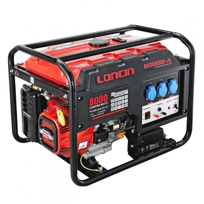 LC 8000D-A ηλεκτροπαραγωγό ζεύγος 6,5 kW με ηλεκτρική εκκίνηση LONCIN