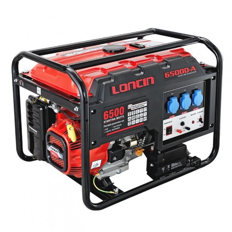 LC 6500D-A ηλεκτροπαραγωγό ζεύγος 5,5 kW με ηλεκτρική εκκίνηση LONCIN