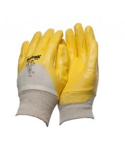 PK 120 Γάντια εργασίας Κίτρινο nitrile 3/4 επένδυση POLROK