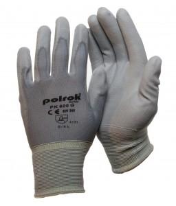 PK 600 G Γάντια εργασίας με παλάμη Πολυουρεθάνης (PU) Γκρι Πολυεστέρα POLROK
