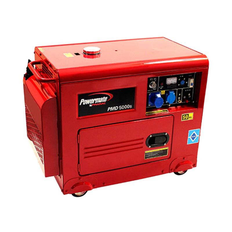 PMD5000s +AVR Ηλεκτροπαραγωγό Ζεύγος (Η/Ζ), 4.95 kW / 5.5 kVA , 1-φασικό, 230V, 50Hz, Lifter Engine,Ηλεκτρική Εκκίνηση / Diesel,Ερωπαϊκή Μπαταρία