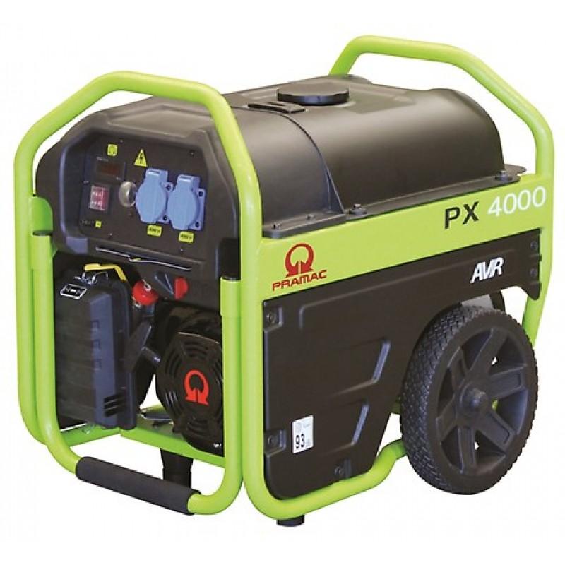 PX4000 Ηλεκτρο - Γεννήτρια Βενζίνης 1-Φασική 2,5 kVA με Χειρόμιζα και χειροκίνητο πίνακα ελέγχου + AVR (αυτόματο ρυθμιστή τάσης) PRAMAC OHV PRAMAC