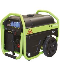 PX5000 Ηλεκτρο - Γεννήτρια Βενζίνης 1-Φασική 3,0 kVA με Χειρόμιζα και χειροκίνητο πίνακα ελέγχου + AVR (αυτόματο ρυθμιστή τάσης) PRAMAC OHV PRAMAC