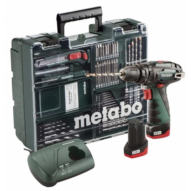 SB Basic Set Κινητό συνεργείο Κρουστικό Δραπανοκατσάβιδο Μπαταρίας PowerMaxx 10.8 Volt Metabo