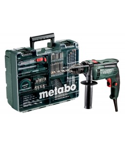 SBE 650 SET Κινητό Συνεργείο Ηλεκτρικό Κρουστικό Δράπανο 650 Watt Metabo