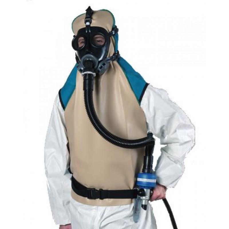 Σετ ACS 951 Μάσκα Ολόκληρου Προσώπου με Παροχή Πεπιεσμένου Αέρα Κουκούλα SPASCIANI