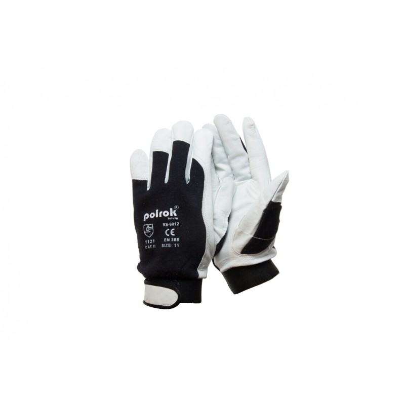 SS 8012 Γάντια εργασίας από Κατσικίσιο Δέρμα με Velcro POLROK