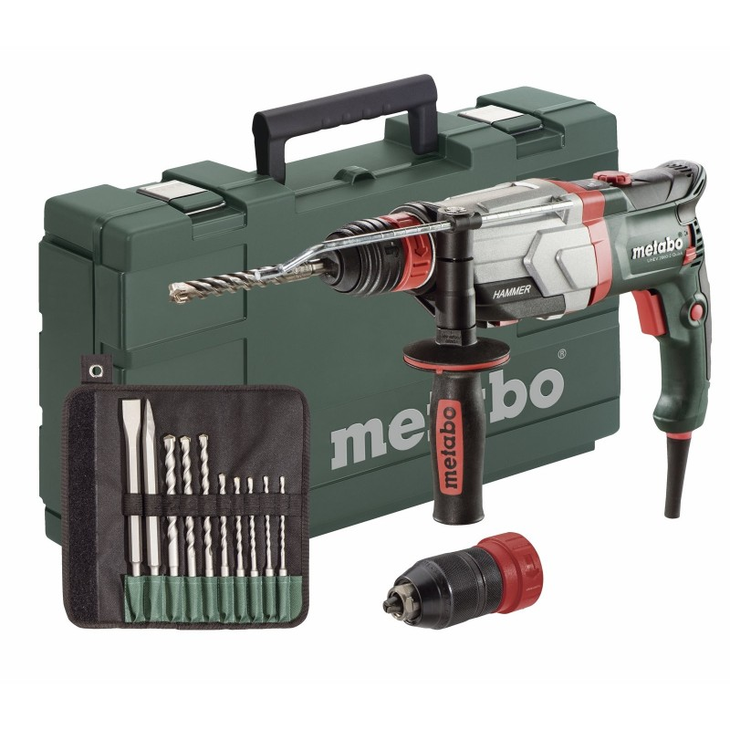 UHEV 2860-2 QUICK Set με διπλό τσόκ 2 ταχυτήτων Ηλεκτρικό Περιστροφικό Πιστολέτο 1100 Watt Metabo
